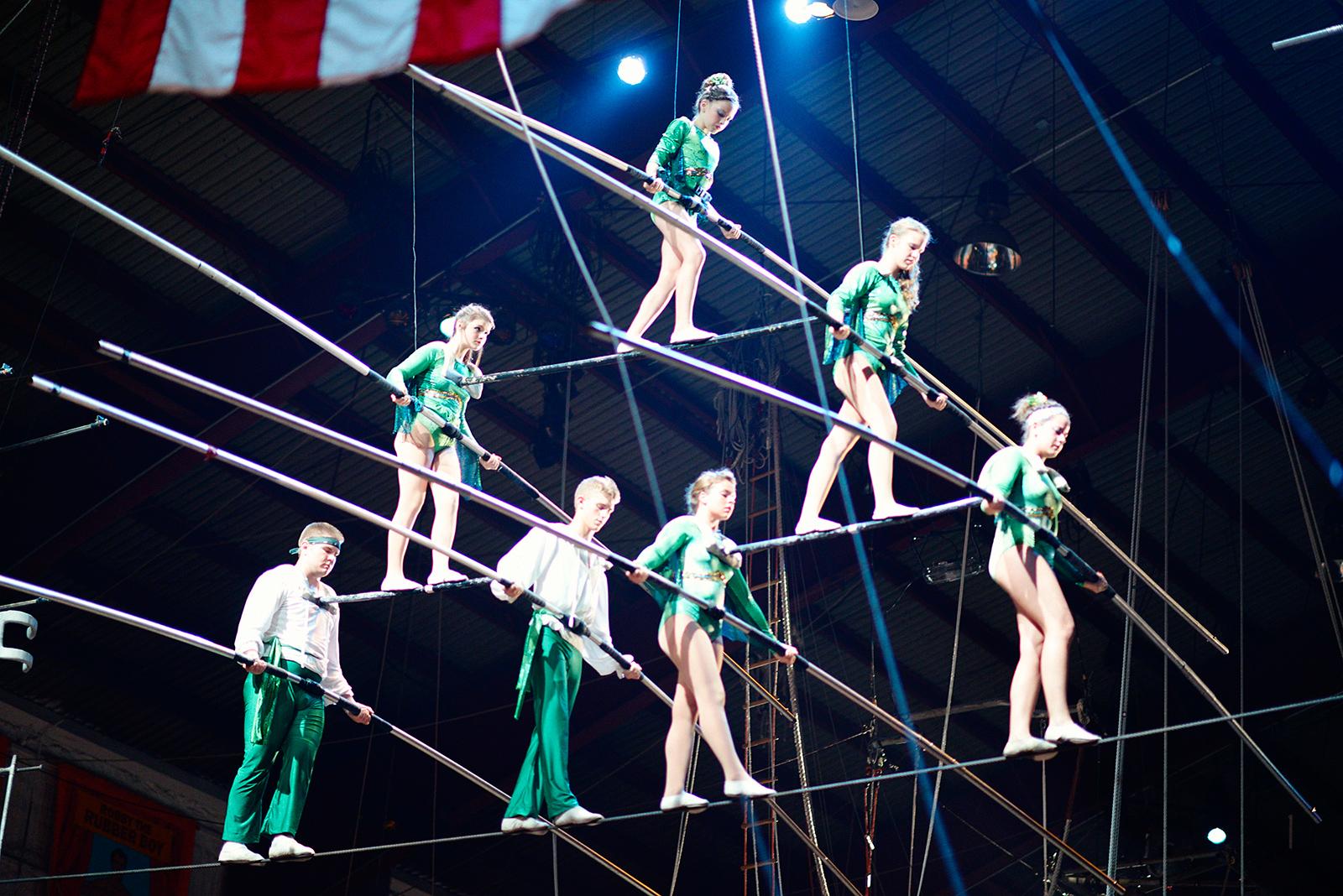Russian oral amateur acrobats